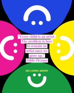 Create Like a Child with Curiosity and Joy | Inci Jones Artist